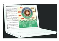 Ilustración del datasheet de Conecta en la pantalla de un portátil