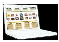 Ilustración del datasheet de Gestión Documental en la pantalla de un portátil