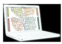 Ilustración del datasheet de UrbaMAP en la pantalla de un portátil