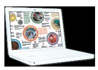 Ilustración del datasheet de ViaMAP en la pantalla de un portátil