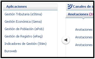 Captura de pantalla del acceso a aplicativos en myTAO