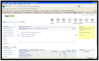 Captura de pantalla de myTAO