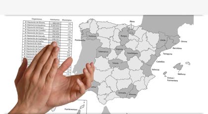 Mapa de Referencias de TAO en Diputaciones, Cabildos y Consells