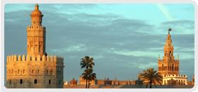 La Torre del Oro y la Giralda, iconos de Sevilla