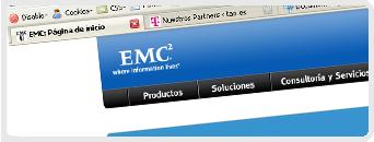 Web de EMC