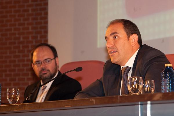 Don Francisco Javier Bello, 1er Teniente Alcalde y Concejal Delegado de Nuevas Tecnologías, en la clausura del XI Club TAO